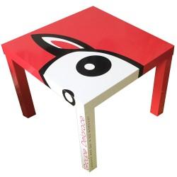 Table de salon personnalisée avec votre logo