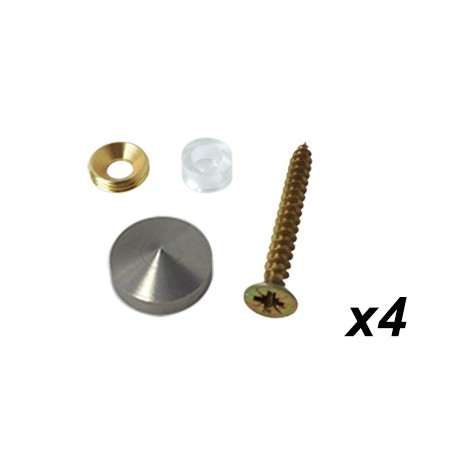 Kit fixation inox conique plaque professionnelle